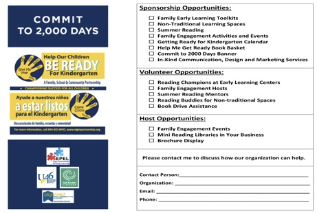 Commitment Card | Elgin Partnership for Early Learning